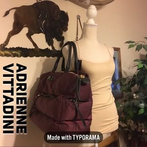 Adrienne Vittadini Quilted Puff Travel Gym Bag